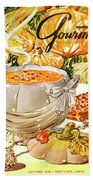 Gourmet Cover Of Pumpkin Soup Bath Towel