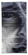 Graffiti Art With Mixed Textures Bath Towel