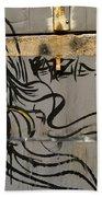 Graffiti Girl Bath Towel