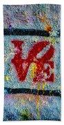 Graffiti Love Bath Towel