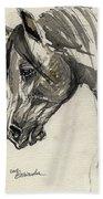 Grafik Polish Arabian Horse Ink Drawing Bath Towel