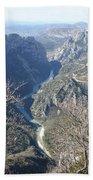 Grand Canyon Du Verdon Overview Bath Towel