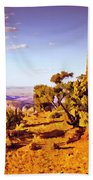 Grand Canyon National Park Golden Hour Watchtower Bath Towel