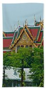 Grand Palace Of Thailand From Waterways Of Bangkok-thailand Bath Towel