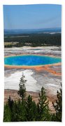 Grand Prismatic Spring From Hillside Bath Towel