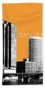 Grand Rapids Skyline - Orange Bath Towel