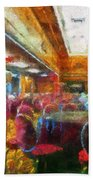 Grand Salon 05 Queen Mary Ocean Liner Photo Art 02 Bath Towel