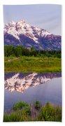 Grand Teton Reflection Bath Towel