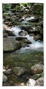 Granite Boulders In A River  Bath Towel