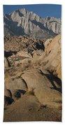 Granite Rock Formations, Alabama Hills Bath Towel