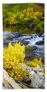 Granite Rocks Above The Cascading Feather River, Quincy California Bath Towel