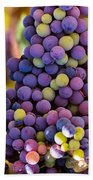 Grape Bunches Wide Bath Towel