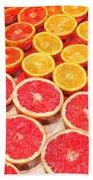 Grapefruit And Oranges Bath Towel