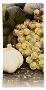 Grapes And Garlic Bath Towel