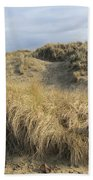 Grass And Sand Dunes Bath Towel