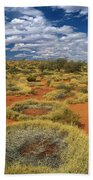 Grass Covering Sand Dunes Bath Towel