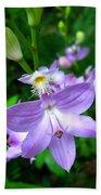 Grass Pink Orchid Bath Towel