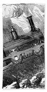 Grassi Locomotive, 1857 Bath Towel