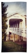 Grave Creek Covered Bridge Bath Towel