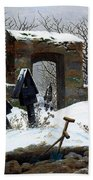 Graveyard Under Snow Hand Towel