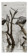 Gray Day At Whitewater Bath Towel