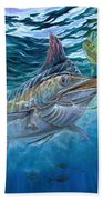 Great Blue And Mahi Mahi Underwater Bath Towel