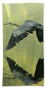 Great Blue Fly-by Bath Towel