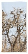 Great Blue Heron Colony Bath Towel
