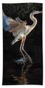 Great Blue Heron Bath Towel
