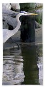 Great Blue Heron - Mealtime Bath Towel
