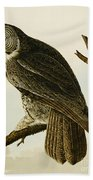 Great Cinereous Owl Hand Towel