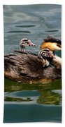 Great Crested Grebe Bath Towel