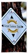 Great Eastern Trail Marker Bath Towel