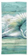 Great Egret I Bath Towel