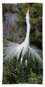 Great Egret Showoff Bath Towel
