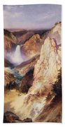 Great Falls Of Yellowstone Hand Towel