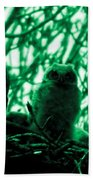 Great Horned Owl And Owlet Bath Towel