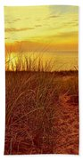 Great Lake Great Sunset 2 Bath Towel