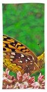 Great Spangled Fritillary Butterfly - Speyeria Cybele Bath Towel