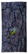 Greater Crested Flycatcher Bath Towel