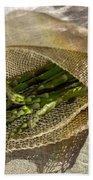 Green Asparagus On Burlab Bath Towel