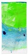 Green Blue Art - Making Waves - By Sharon Cummings Hand Towel