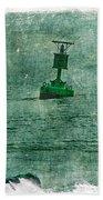 Green Buoy - Barnegat Inlet - New Jersey - Usa Bath Towel