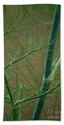 Green Branches Bath Towel
