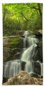 Green Canopy Above Laurel Falls Bath Towel