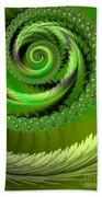 Green Fronds Bath Towel