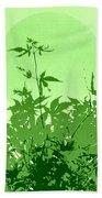 Green Green Haiku Bath Towel