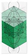 Green Hypercube Bath Towel
