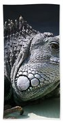 Green Iguana 1 Bath Towel