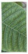 Green Leaf Macro Bath Towel